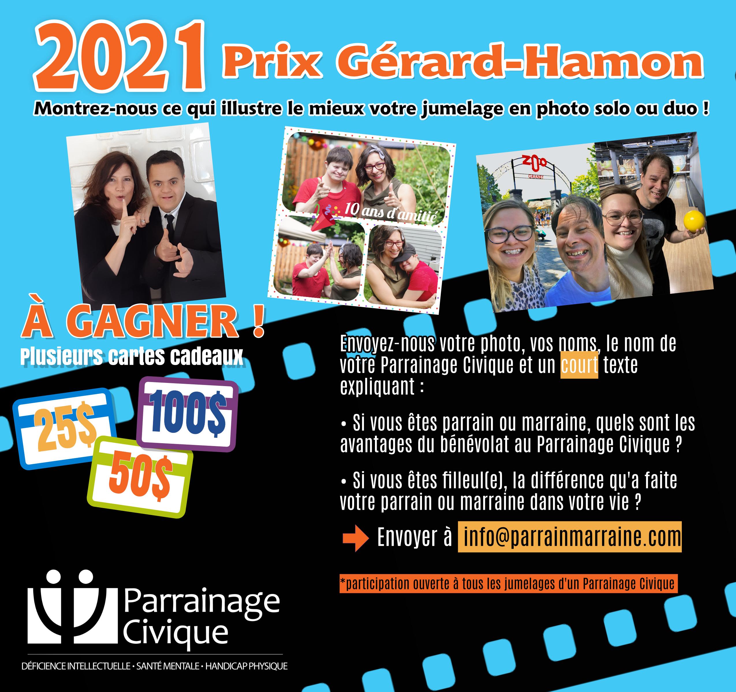 Prix Gérard-Hamon 2021